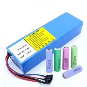 Litijeva baterija 18650 60V 12AH litij-ionska baterija za ponovno polnjenje skuterja