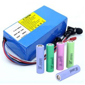 Litijeva baterija 18650 48V 12AH 48V 500W električna baterijska baterija z BMS