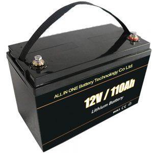 Svinčena kislina nadomestna sončna baterija 12V 110Ah lifepo4 litijeva baterija