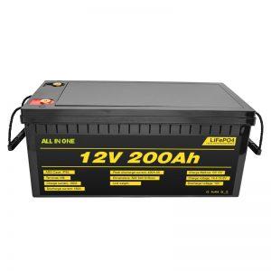 Prilagodljiv električni avtomobil 12V Lifepo4 baterija 12,8v 200ah z 2000 življenjsko dobo lifepo4 baterija