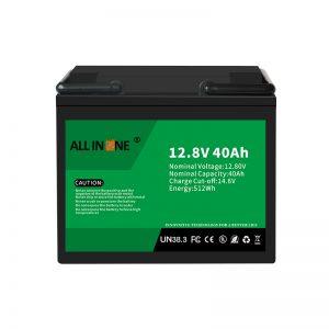 12.8V 40Ah LiFePO4 Zamenjava svinčeve kisline litij -ionska baterija 12V 40Ah
