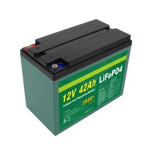 Vzdrževanje Prilagojena solarna baterija Lifepo4 Cell Lifepo4 Cell 12v 40ah 42ah z BMS