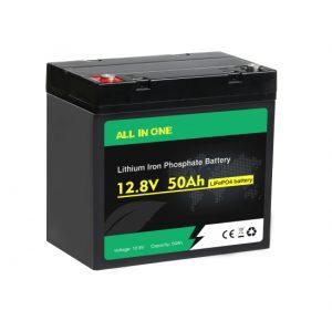 Vse v enem Lifepo4 baterija 12v 50ah globok cikel