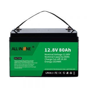 Najbolj priljubljena litijeva baterija za zamenjavo svinčeve kisline RV LiFePO4 12V 80Ah