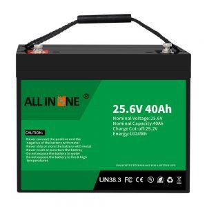 25,6V 40Ah litij -železov fosfatna baterija/zamenjava