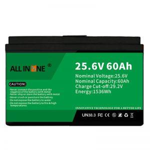 25,6V 60Ah varnostna/dolgotrajna LFP baterija za RV/prikolico/UPS/golf voziček 24V 60Ah