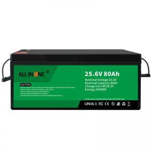 25,6V 80Ah varnostna/dolgotrajna LFP baterija za RV/prikolico/UPS/golf voziček 24V 80Ah