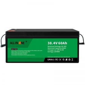 38,4V 60Ah litij -železov fosfatna baterija za VPP/SHS/pomorska/vozila 36V 60Ah