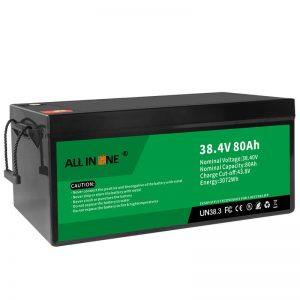 38,4 V 80Ah LiFePO4 zamenjava svinčeve kisline litij -ionska baterija, 36V 80Ah