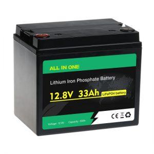 Vse v enem 26650 lifepo4 12V 33ah litij -železov fosfatna baterija