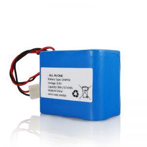 6,4V 12Ah LiFePO4 polnilna litijeva 26650 32650 baterija s priključkom za sončno svetlobo